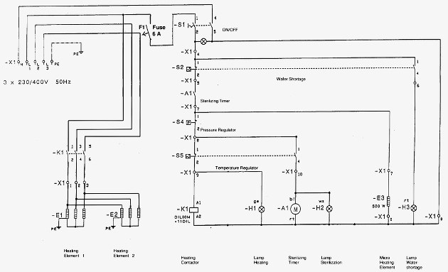 3 Phase Electric Heater Wiring Diagram Schematic - Electrical ...