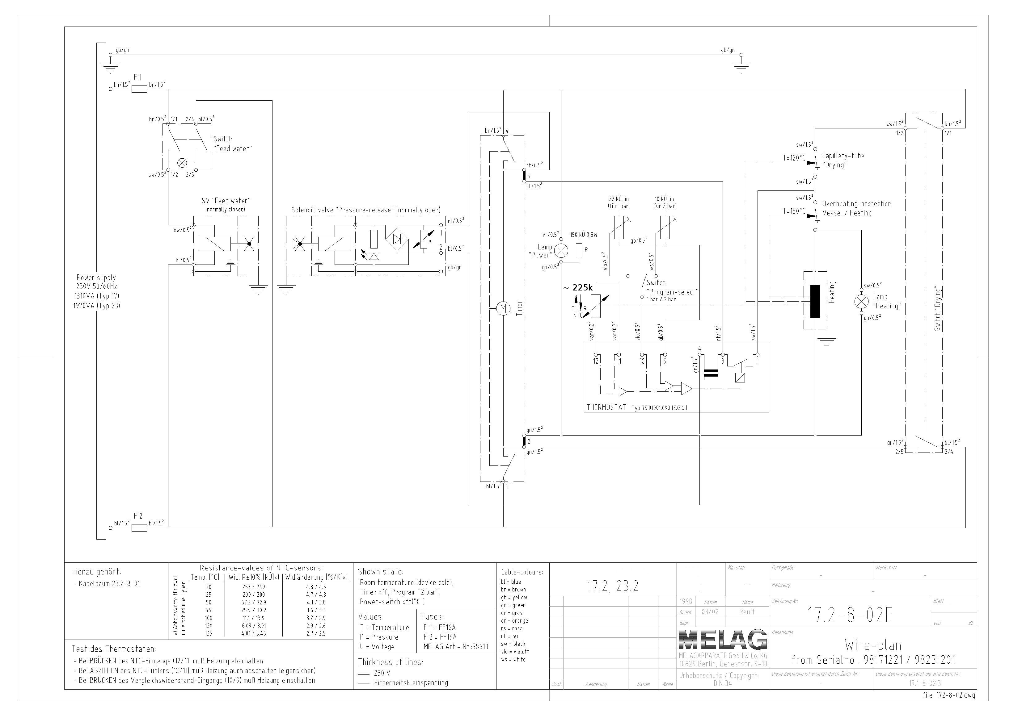 Franks Autoclaves Wiring Diagram For Workshop Free Download Schematic Melag 23 Service Manual 90 Kb